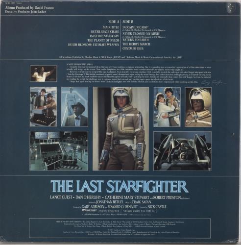 Original Soundtrack The Last Starfighter vinyl LP album (LP record) US OSTLPTH728454