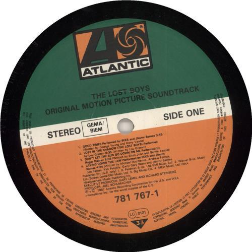Original Soundtrack The Lost Boys vinyl LP album (LP record) German OSTLPTH130527