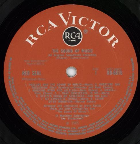 Original Soundtrack The Sound Of Music - 1st - EX vinyl LP album (LP record) UK OSTLPTH386178