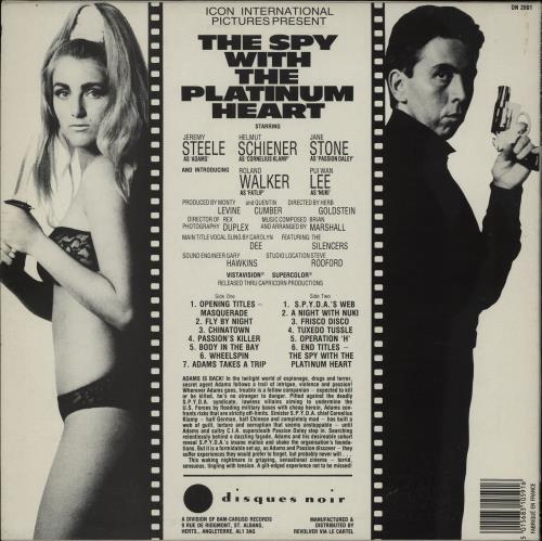 Original Soundtrack The Spy With The Platinum Heart vinyl LP album (LP record) UK OSTLPTH759415
