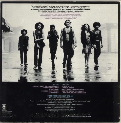 Original Soundtrack The Warriors - EX vinyl LP album (LP record) UK OSTLPTH713824