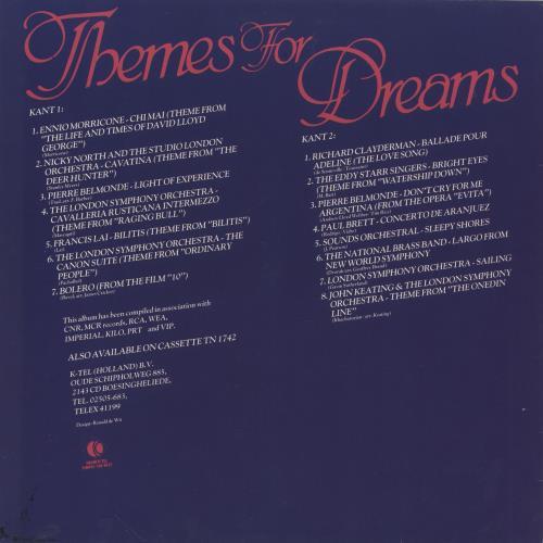 Original Soundtrack Themes For Dreams vinyl LP album (LP record) UK OSTLPTH745607