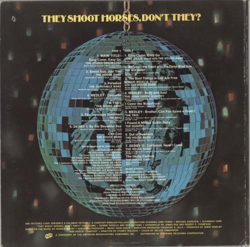 Original Soundtrack They Shoot Horses, Don't They? vinyl LP album (LP record) US OSTLPTH749101