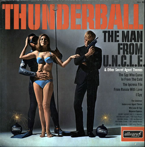 Original Soundtrack Thunderball & Other Secret Agent Themes vinyl LP album (LP record) UK OSTLPTH565357