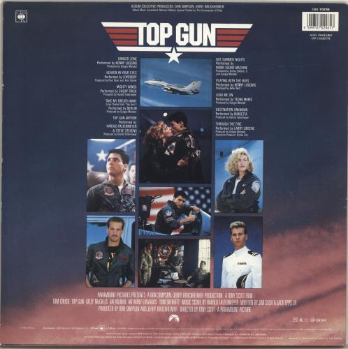 Original Soundtrack Top Gun - Stickered Sleeve vinyl LP album (LP record) UK OSTLPTO67345