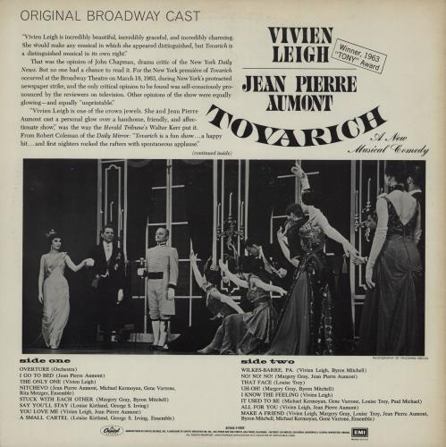Original Soundtrack Tovarich vinyl LP album (LP record) US OSTLPTO757884
