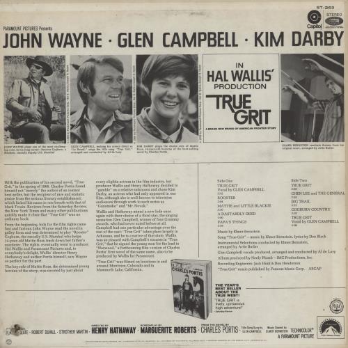 Original Soundtrack True Grit vinyl LP album (LP record) US OSTLPTR761966