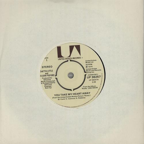 "Original Soundtrack You Take My Heart Away 7"" vinyl single (7 inch record) UK OST07YO574825"