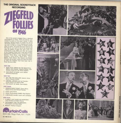 Original Soundtrack Ziegfied Follies Of 1946 2-LP vinyl record set (Double Album) US OST2LZI711993