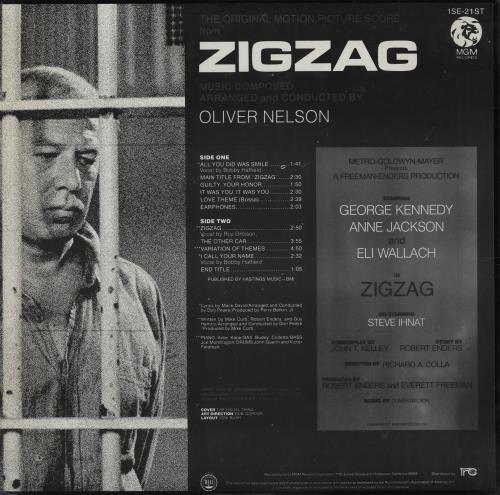 Original Soundtrack Zigzag vinyl LP album (LP record) US OSTLPZI760167