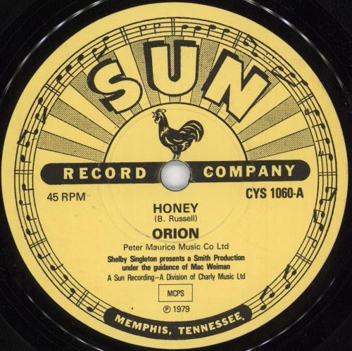"""Orion (Elvis) Honey 7"""" vinyl single (7 inch record) UK OUL07HO729333"""