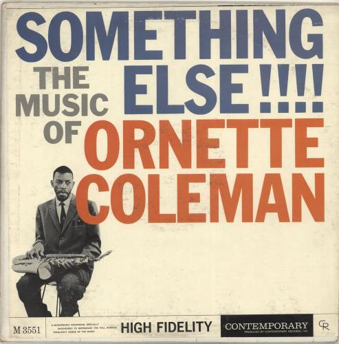 Ornette Coleman Something Else!!!! vinyl LP album (LP record) US ORCLPSO703961