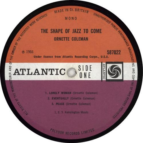 Ornette Coleman The Shape Of Jazz To Come vinyl LP album (LP record) UK ORCLPTH448388
