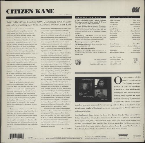 Orson Welles Citizen Kane laserdisc / lazerdisc UK OS9LZCI666605