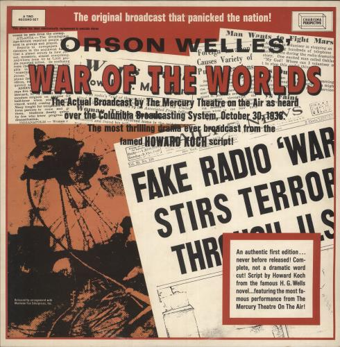 Orson Welles War Of The Worlds - EX 2-LP vinyl record set (Double Album) UK OS92LWA744978