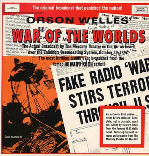 Orson Welles War Of The Worlds 2-LP vinyl record set (Double Album) UK OS92LWA301244