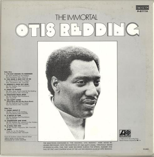 Otis Redding The Immortal Otis Redding Japanese vinyl LP