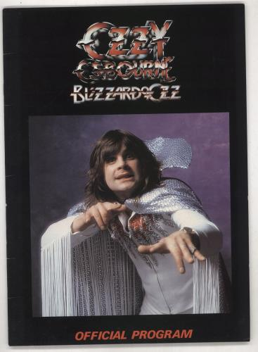 Ozzy Osbourne Blizzard Of Ozz - Picture Cover tour programme US OZZTRBL738627