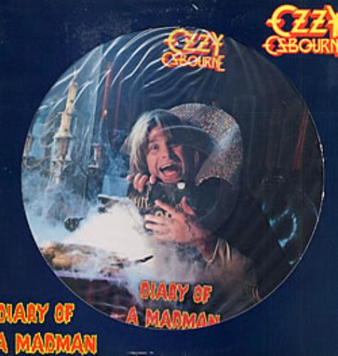 Ozzy Osbourne Diary Of A Madman Us Promo Picture Disc Lp