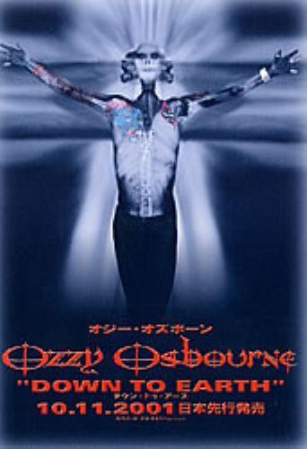Ozzy Osbourne Down To Earth handbill Japanese OZZHBDO206117