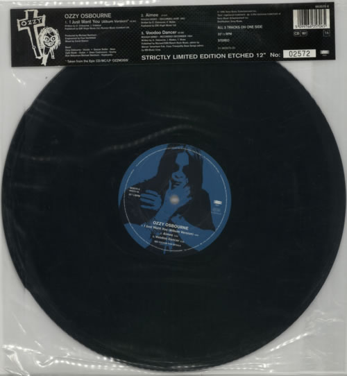 "Ozzy Osbourne I Just Want You 12"" vinyl single (12 inch record / Maxi-single) UK OZZ12IJ86519"
