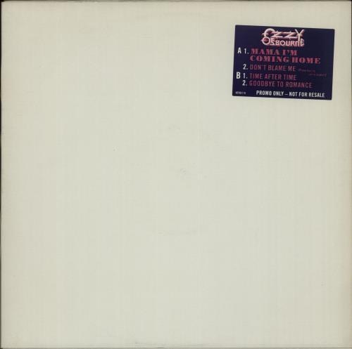 "Ozzy Osbourne Mama I'm Coming Home 12"" vinyl single (12 inch record / Maxi-single) UK OZZ12MA653390"