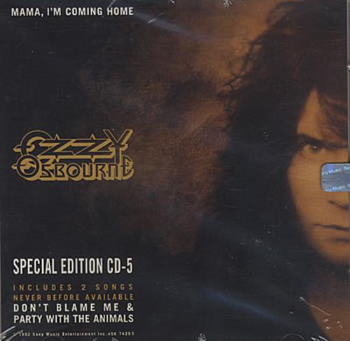 "Ozzy Osbourne Mama, I'm Coming Home - Sealed CD single (CD5 / 5"") US OZZC5MA379725"