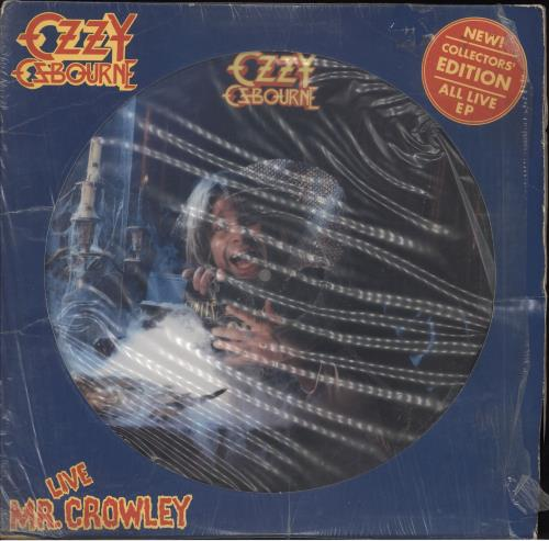 "Ozzy Osbourne Mr Crowley 12"" vinyl picture disc 12inch picture disc record US OZZ2PMR59044"