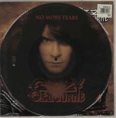 "Ozzy Osbourne No More Tears + insert 12"" vinyl picture disc 12inch picture disc record UK OZZ2PNO00972"