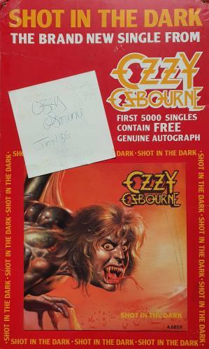 Ozzy Osbourne Shot In The Dark - Autographed display UK OZZDISH767201