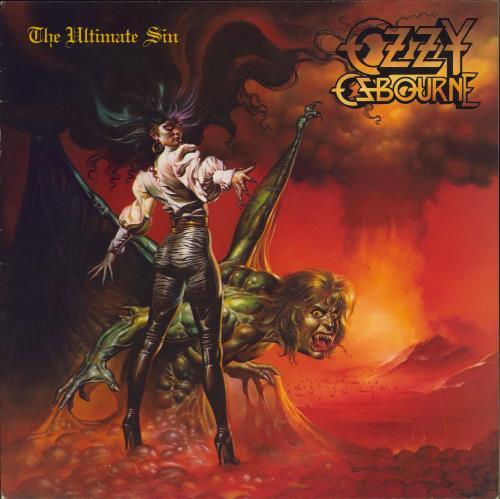 Ozzy Osbourne The Ultimate Sin vinyl LP album (LP record) Dutch OZZLPTH775048