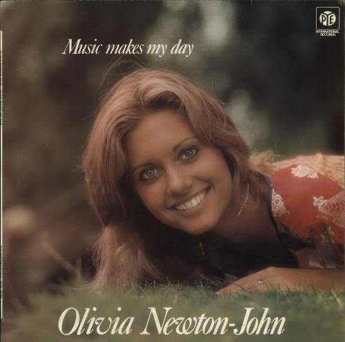 Olivia Newton John Music Makes My Day - Blue Label vinyl LP album (LP record) UK ONJLPMU05796