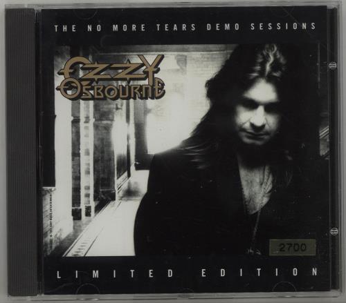 Ozzy Osbourne The No More Tears Demo Sessions CD album (CDLP) US OZZCDTH118321