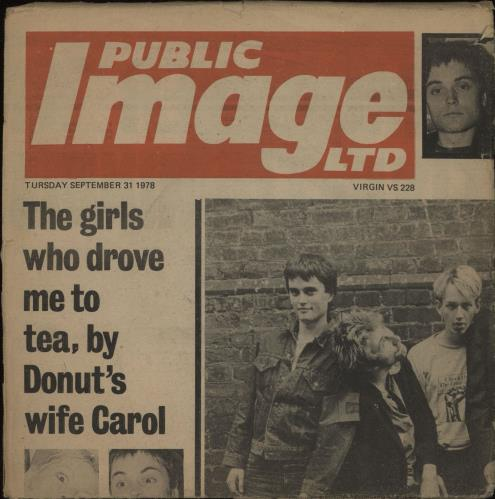 "P.I.L. Public Image - Newspaper Sleeve 7"" vinyl single (7 inch record) UK PIL07PU112492"