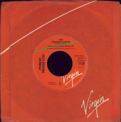 "P.I.L. Public Image - Wide 7"" vinyl single (7 inch record) UK PIL07PU771294"