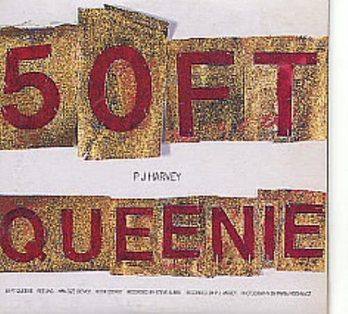 """P.J. Harvey 50ft Queenie CD single (CD5 / 5"""") Australian PJHC5FT275457"""