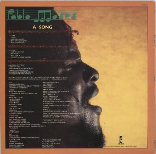 Pablo Moses A Song vinyl LP album (LP record) UK Q2CLPAS733137