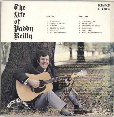 Paddy Reilly The Life Of Paddy Reilly vinyl LP album (LP record) Irish QAGLPTH671306