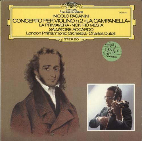 Paganini Violin Concerto No  2 'La Campanella' German vinyl