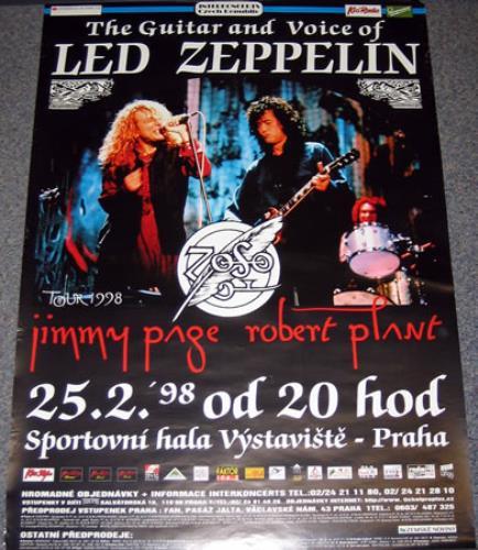 Page & Plant Sportovni Hala Vystaviste poster Czech P&PPOSP376781