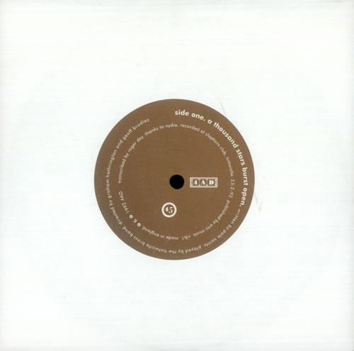 "Pale Saints A Thousand Stars Burst Open 7"" vinyl single (7 inch record) UK PAL07AT143148"