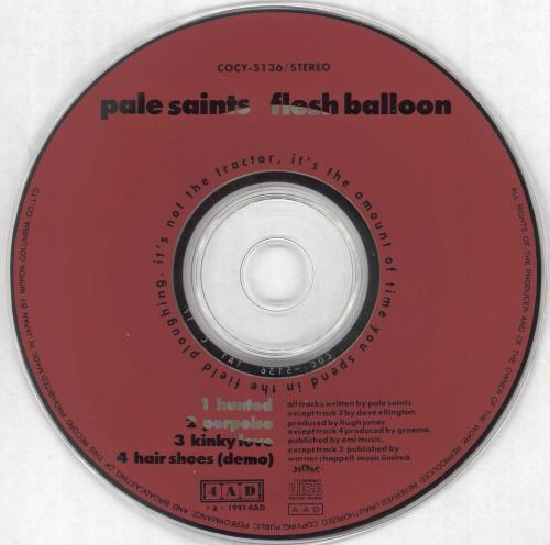 "Pale Saints Flesh Balloon - Promo CD single (CD5 / 5"") Japanese PALC5FL135995"