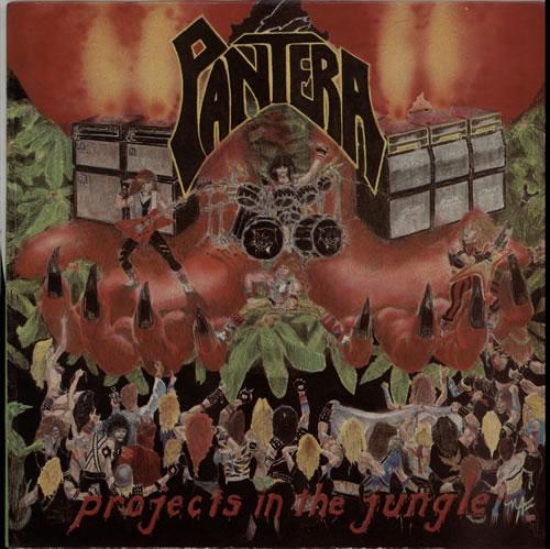 Pantera Projects In The Jungle - black & silver label vinyl LP album (LP record) US PANLPPR629867
