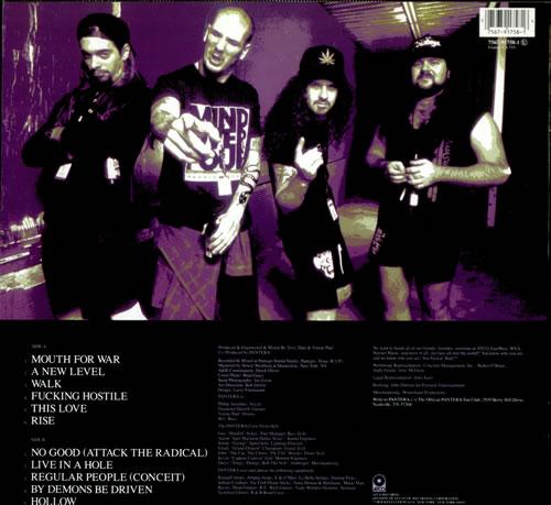 Pantera Vulgar Display Of Power German Vinyl Lp Album Lp