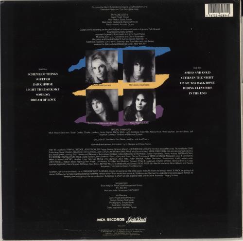 Paradise Lost (US) Paradise Lost vinyl LP album (LP record) US 1C4LPPA709566