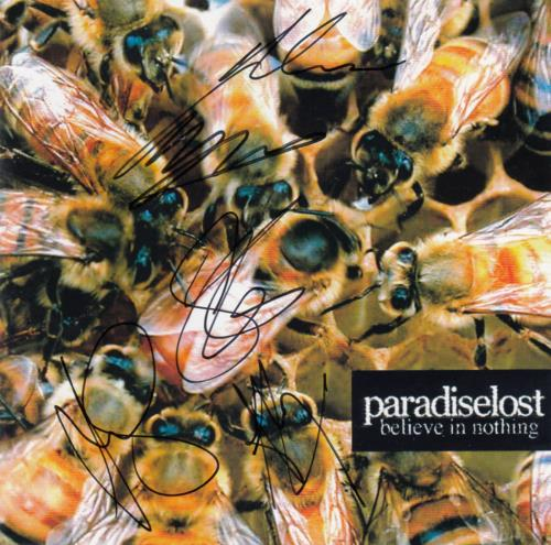 Paradise Lost Believe In Nothing - Autographed CD album (CDLP) UK P-LCDBE652192