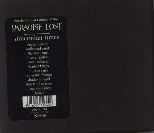 Paradise Lost Draconian Times - Special Edition CD album (CDLP) UK P-LCDDR674016