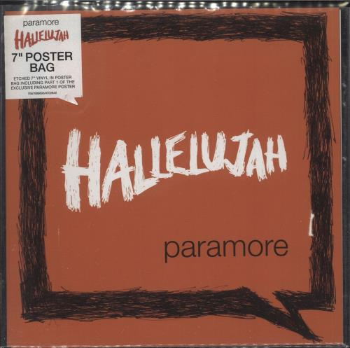 "Paramore Hallelujah - Poster Bag + Sticker 7"" vinyl single (7 inch record) UK OR807HA734701"