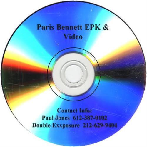 Paris Bennett Princess P & EPK 2-disc CD/DVD set US PR72DPR410265