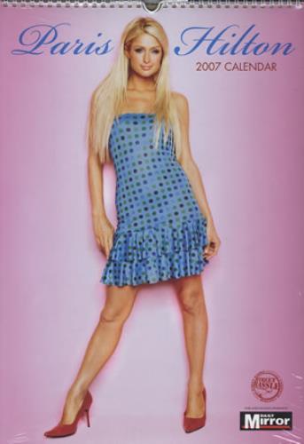 Paris Hilton Calendar 2007 calendar UK 69RCACA380226